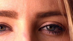 Close Up Of Made Up Eyes stock footage