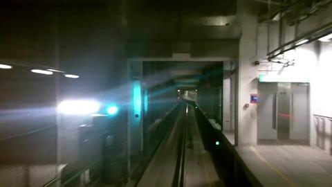 London Heathrow Subway in Tunnel 1 Footage