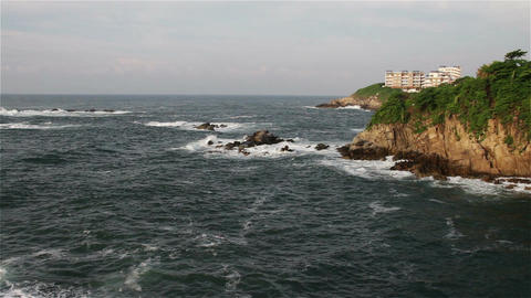 Rocky Shore in the Pacific in Oaxaca Mexico 6 Footage