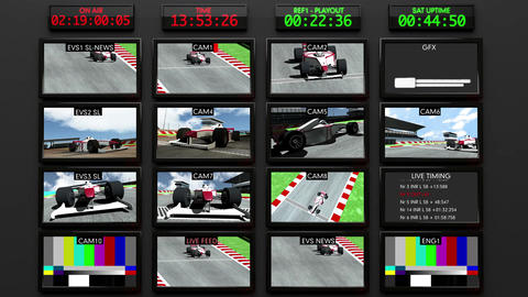 4 K Broadcasting Formula 1 Television Studio Head  Animation