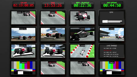 Broadcasting Formula 1 Television Studio Head Room Animation