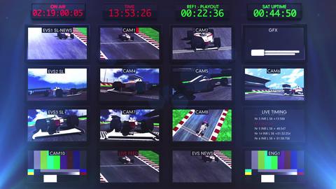 Broadcasting Formula 1 Television Studio Head Room Animation