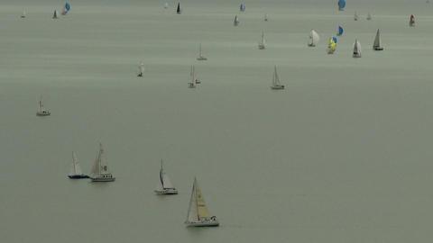 4 K Blue Ribbon Sailing Boat Race in Lake Balaton  Footage