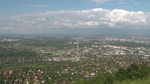 4 K Budapest Hungary Aerial View 35 northern part Footage