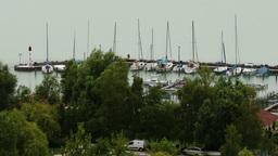4K Lake Balaton Balatonkenese Pier Hungary 1 Footage