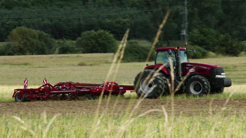 4K Ploughing Tractor 6 Footage