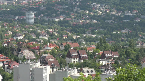 Budapest Hungary Aerial View 31 stock footage