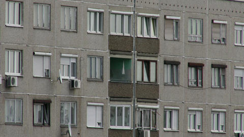 Concrete Block of Flats 11 Footage