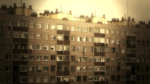 Concrete Block of Flats 13 stylized Footage