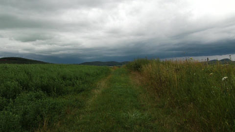 Summer Dull Weather in Kali Basin Hungary 1 Footage