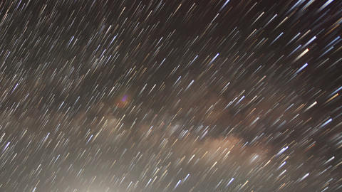Time lapse of stars behind mountain Taboche, Chola Footage
