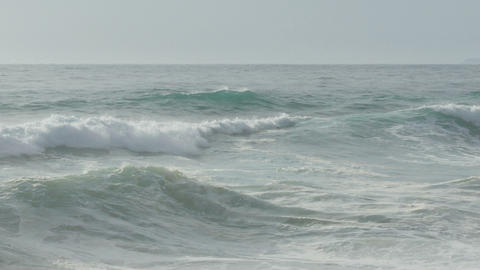 Waves Crashing On Beach stock footage