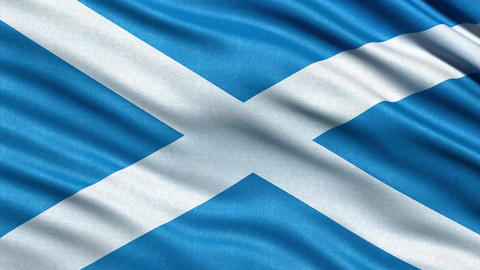 4K Flag of Scotland seamless loop Ultra-HD Animation