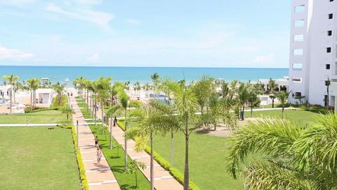 PLAYA BLANCA, PANAMA - AUGUST 28: Scenery of luxur Footage