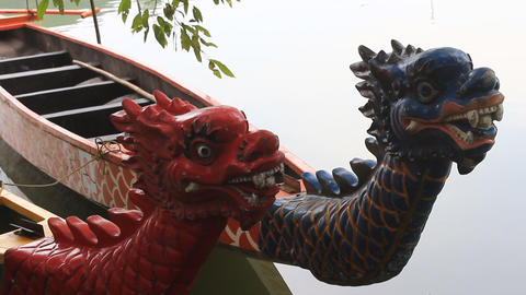 head dragon boat, a unique culture of Asia Footage