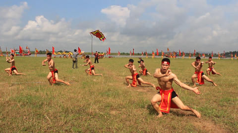 The martial arts practitioners performance traditional martial arts, Asia Live Action