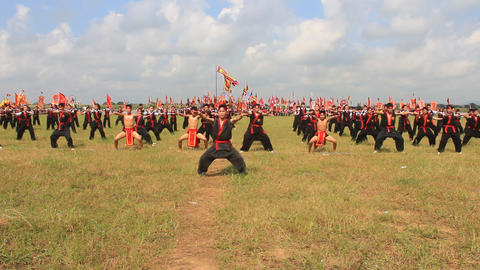 The martial arts practitioners performance traditional martial arts, Asia Footage
