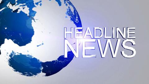 Headline News Animation HD Blue Stock Video Footage