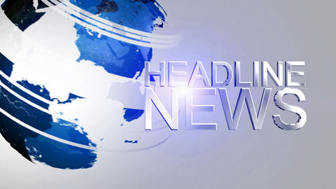Headline News Animation HD Blue Stock Video Footage