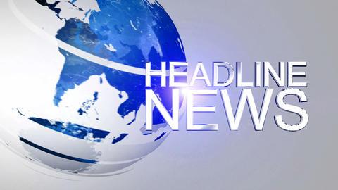 Headline News Animation HD Blue CG動画素材