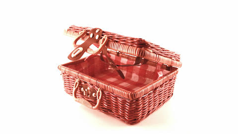 wicker picnic basket Footage