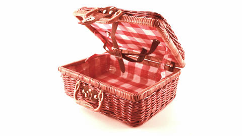 wicker picnic basket Stock Video Footage