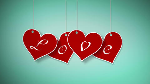 Valentine hanging labels Animation
