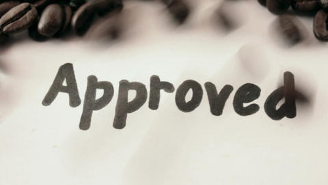 Approved. written on white Stock Video Footage