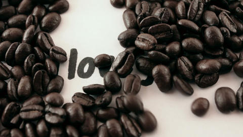 I love you. written on white under coffee Stock Video Footage