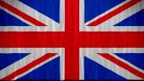 Great Britain Flag Curtain Up stock footage