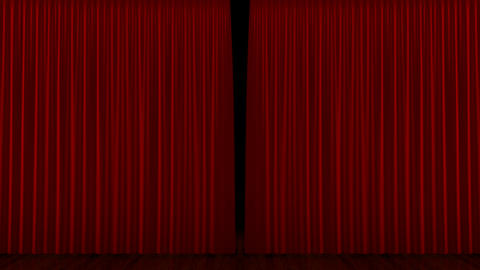 Curtain up, with beautiful cloth pattern. Alpha channel… Stock Video Footage