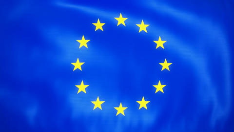 Loopable Waving European Union Flag Stock Video Footage
