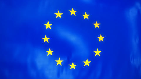Loopable Waving European Union Flag stock footage