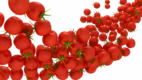 Tomatoes Cherry flow with slow motion Stock Video Footage