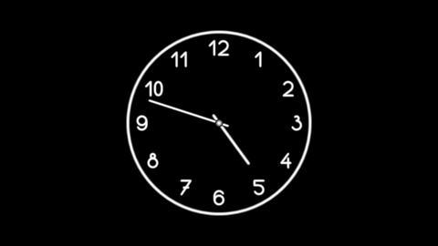 Clock-10C Stock Video Footage