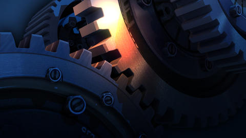 mechanism in motion Stock Video Footage