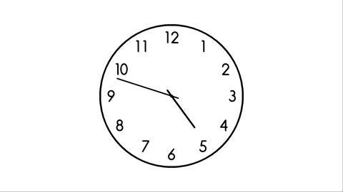 Clock-13C Stock Video Footage