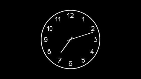 Clock-15C Stock Video Footage