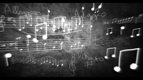 3D Notes and Scores v03 06 Stock Video Footage