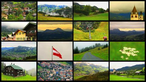 Alps Splitscreen 01 Stock Video Footage