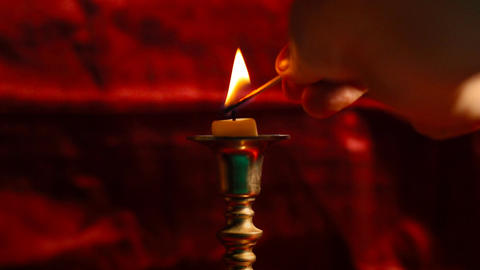 Candle 01 Stock Video Footage