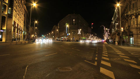 European City At Night Timelapse 07 Stock Video Footage