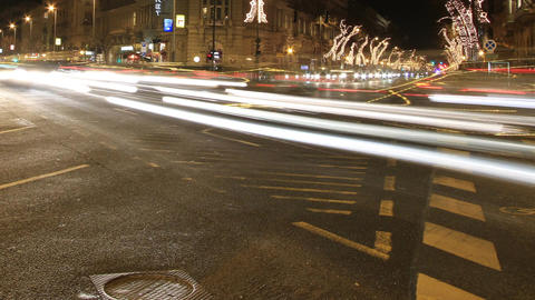 European City At Night Timelapse 09 Stock Video Footage
