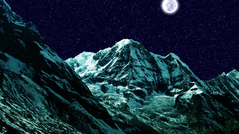 Night Sky Mountains 01 Stock Video Footage