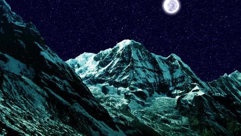 Night Sky Mountains 01 Stock Video Footage
