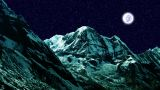 Night Sky Mountains 03 stock footage