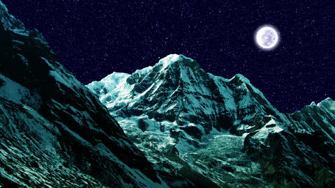 Night Sky Mountains 03 Animation