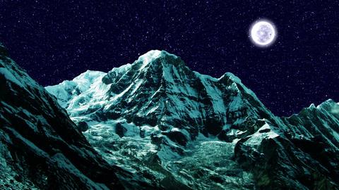 Night Sky Mountains 03 Stock Video Footage