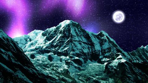 Night Sky Mountains 05 Stock Video Footage