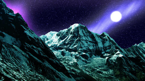 Night Sky Mountains 07 Stock Video Footage